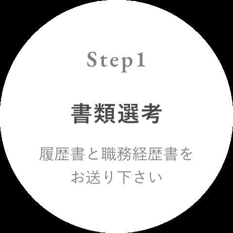 Step 1 書類選考