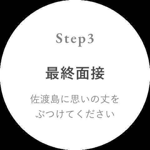 Step 3 佐渡島との最終面接