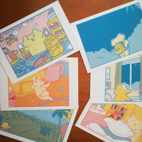 個展「しんぱいなみらい」展示品 ポストカード6枚セット